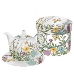 """Akcesoria/ceramika 2-częściowy zestaw """"Kensington Garden"""" z kolorowym wzorem do herbaty 185,00zł"""