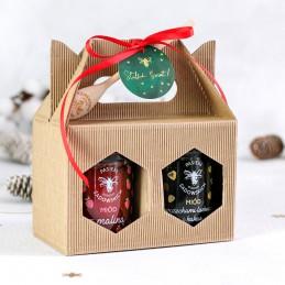 Delikatesy Świąteczny zestaw dwóch miodów w walizce 70,00zł